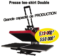 Presse-Double-Tee-Shirt-Grande--capacité de PRODUCTION